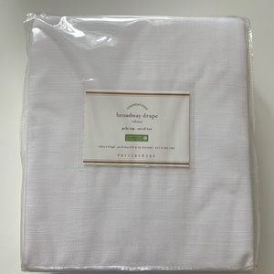 Pottery Barn White Drapes Set of Two 50x96in